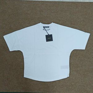 Palm Angels White Logo T-Shirt , Men's